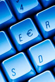 Euro key Computer keyboard close-up Stock Photos