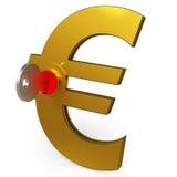 Euro Key Showing Savings And Finance Stock Photos
