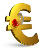 Euro Key Shows Savings And Finance Stock Images