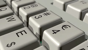 Euro keyboard Royalty Free Stock Photography
