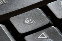 Euro keyboard key Royalty Free Stock Photos