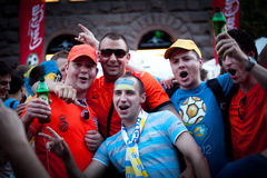 Euro-2012 in Kiev Stock Images