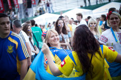 Euro-2012 in Kiev stock image