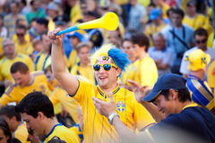 Euro-2012 in Kiev. Fans Euro-2012 in Kiev Stock Photos
