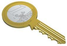 euro klucz Obrazy Stock