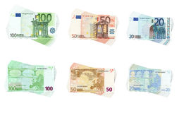 Euro kolekcja Obrazy Royalty Free