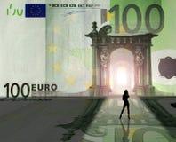 Euro Koninkrijk: prostitutie stock illustratie