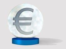 Euro kristallen bolconcept Stock Afbeelding