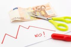 Euro kryzys Zdjęcie Stock