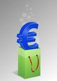 Euro kupujący Fotografia Stock