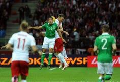 EURO 2016 Kwalifikacyjnych Round Polska vs ryps irlandia Zdjęcia Royalty Free