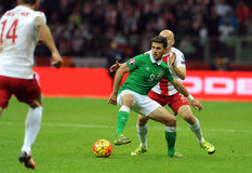 EURO 2016 Kwalifikacyjnych Round Polska vs ryps irlandia Zdjęcie Stock