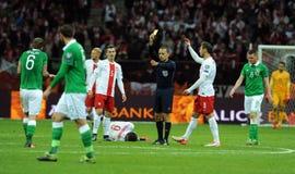 EURO 2016 Kwalifikacyjnych Round Polska vs ryps irlandia Obrazy Royalty Free