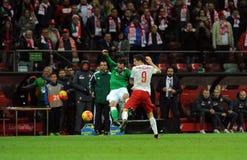 EURO 2016 Kwalifikacyjnych Round Polska vs ryps irlandia Zdjęcie Royalty Free