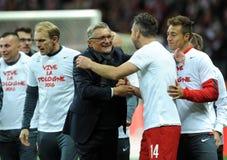 EURO 2016 Kwalifikacyjnych Round Polska vs ryps irlandia Fotografia Royalty Free