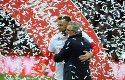 EURO 2016 Kwalifikacyjnych Round Polska vs ryps irlandia Obraz Royalty Free