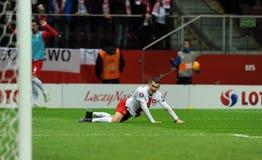 EURO 2016 Kwalifikacyjnych Round Polska vs ryps irlandia Obraz Stock