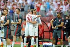 EURO 2016 kwalifikuje Polska vs Gruzja Fotografia Stock
