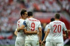 EURO 2016 kwalifikuje Polska vs Gruzja Zdjęcie Royalty Free