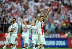 EURO 2016 kwalifikuje Polska vs Gruzja Obraz Royalty Free