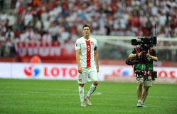 EURO 2016 kwalifikuje Polska vs Gruzja Obrazy Stock
