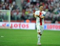EURO 2016 kwalifikuje Polska vs Gruzja Obrazy Royalty Free