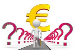 Euro långt till framgång stock illustrationer