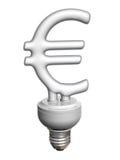 Euro lampadina economica Immagini Stock