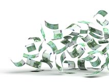 euro latający pieniądze Zdjęcie Royalty Free
