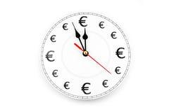 Euro le temps, c'est de l'argent Images libres de droits