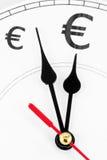 Euro le temps, c'est de l'argent Photo libre de droits