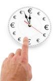 Euro le temps, c'est de l'argent Images stock