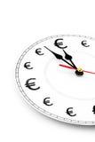 Euro le temps, c'est de l'argent Image stock