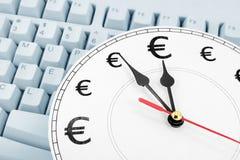 Euro le temps, c'est de l'argent Image libre de droits