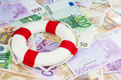 Euro lifesaver Stock Photography