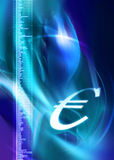 Euro light symbol Royalty Free Stock Photography