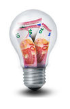 Euro Lightbulb Stock Images