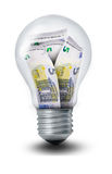 Euro Lightbulb Royalty Free Stock Photo