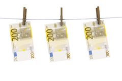 Euro on the line Stock Image