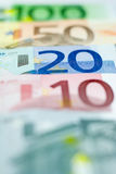 Euro Line-up - 20 Euros Stock Photography