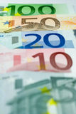 Euro Line-up - 50 Euros Stock Photos