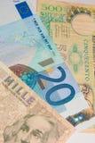 Euro - lira - mejore antes o después de imagen de archivo