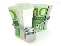 Euro on lock Stock Photo