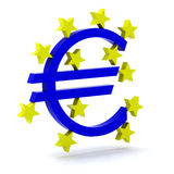 Euro logo bce Royalty Free Stock Image