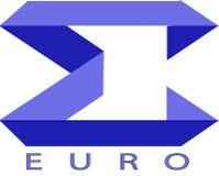 Euro logo del segno fotografia stock libera da diritti