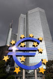 EURO logo in Frankfurt am Main Stock Photo