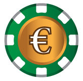 Euro-Münzen-Thema-Design für Kasino-Konzept Stockbilder