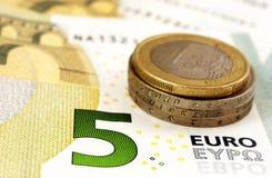 Euro macro Stock Photo