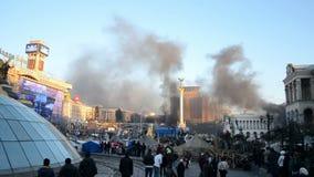 Euro maidan meeting in Kiev, Ukraine, stock video footage