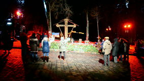 Euro maidan Memory days in Kiev, Ukraine,. KIEV - FEB 21: Euro maidan Memory days on February 21, 2015 in Kiev, Ukraine stock video